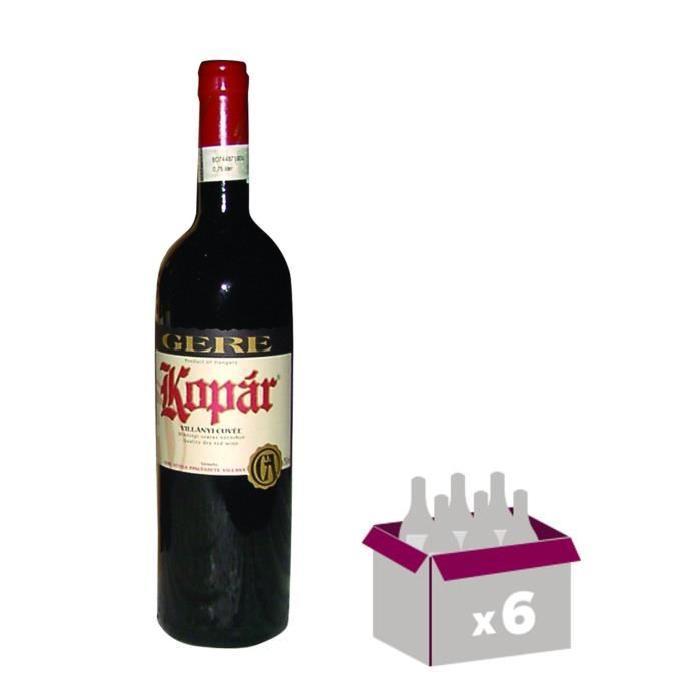 GERE Kopar Villany Vin de Hongrie - Rouge - 75 cl x 6