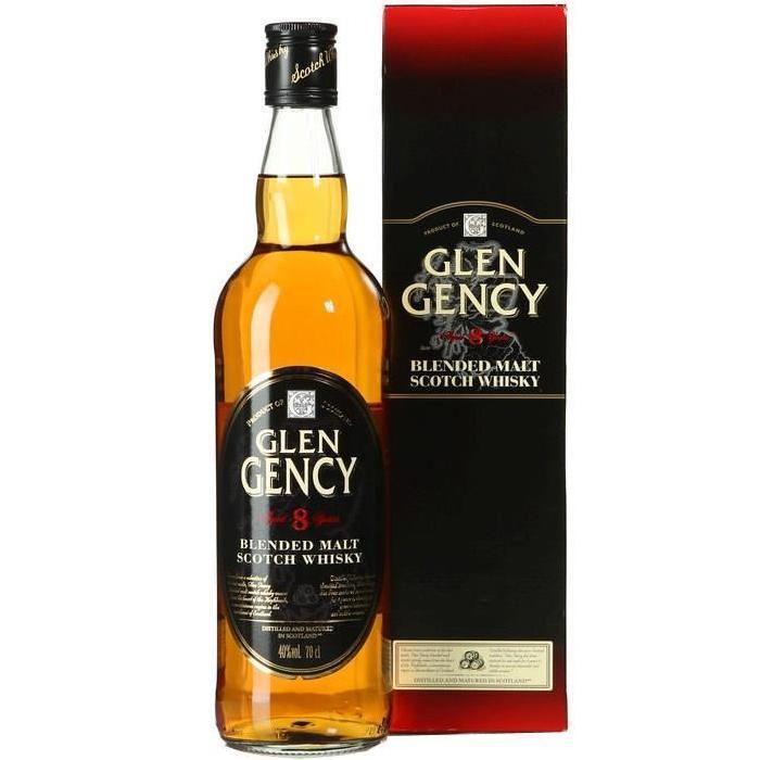 GLEN GENCY Whisky Pur Malt - 8 Ans d'age - 70cl - 40%
