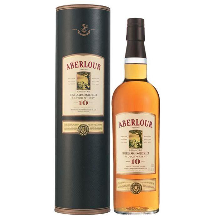 ABERLOUR Whisky 10 ans d'âge Single Malt - 70cl - 40%