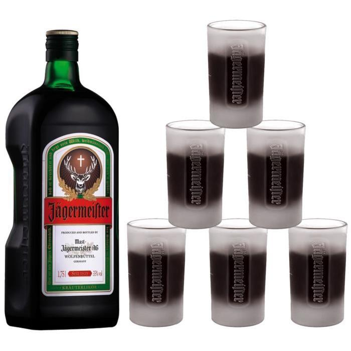 Jagermeister 175 cl + 6 shooters