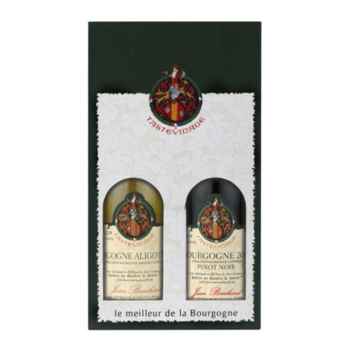 TASTEVIRAGE Coffret de 2 bouteilles Pinot noir + Bourgogne Aligoté - Rouge - 12 ° - 2 x 75 cl