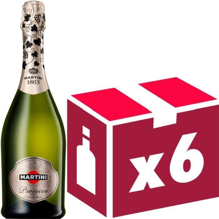 Martini Prosecco Italie vin blanc effervescent x6