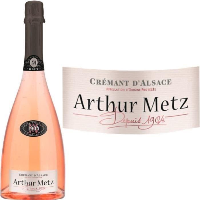 Crémant d'Alsace Cuvée 1904 rosé Arthur Metz vi...