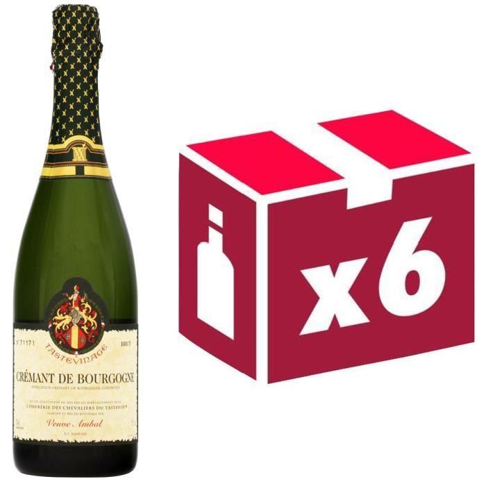 Crémant de Bourgogne Tastevinage Veuve Ambal x6