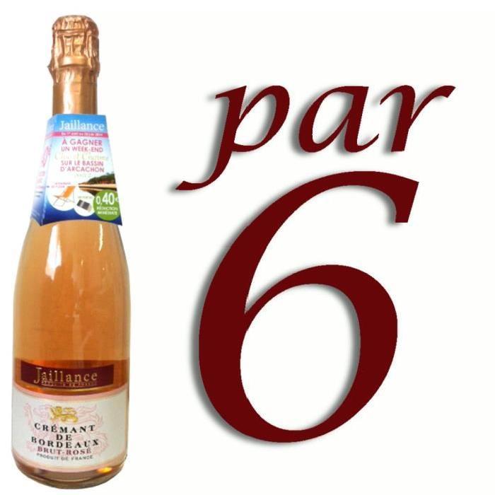 Crémant de Bordeaux Rosé Jaillance x6