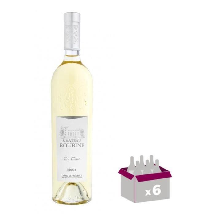 CHÂTEAU ROUBINE Réserve Vin de Provence - Blanc - 75 cl x 6