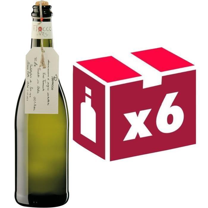 6x Prosecco Fiocco di Vite Italie vin blanc effervescent