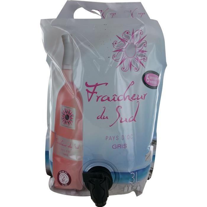 Fraicheur Du Sud Pouch Vin de Provence - Gris - 3 l