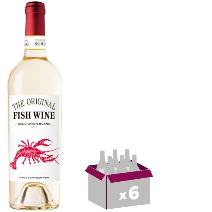 THE ORIGINAL FISH WINE Sauvignon Vin du Chili - Blanc - 75 cl x 6