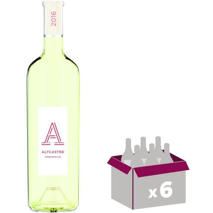L'Alycastre Porquerolles Côtes de Provence 2016 - Vin blanc x6