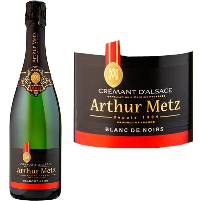 Crémant d'Alsace Blanc de Noir AOP Athur Metz -...