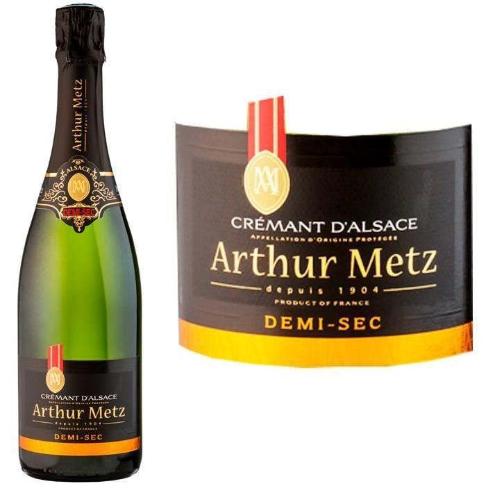 Arthur Metz Demi Sec Crémant d'Alsace AOP