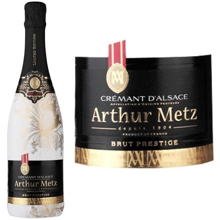 Crémant d'Alsace Brut AOP Athur Metz Prestige d...