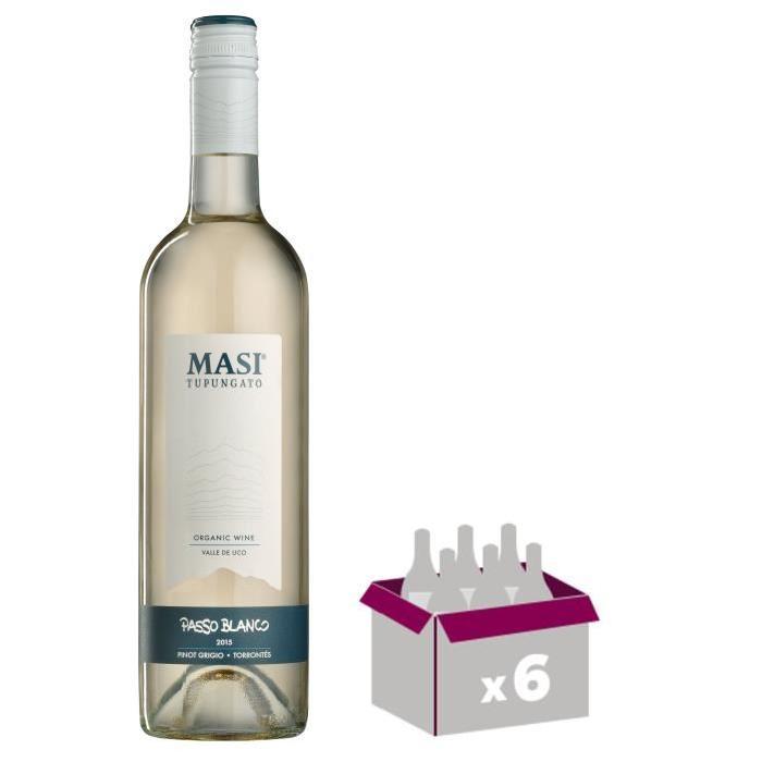 PASSO BLANCO 2015 Vin d'Argentine - Blanc - 75 cl x 6