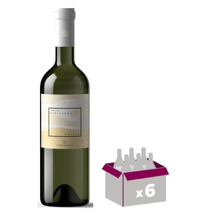 ARIA SICILIANO 2015 Grillo Vin d'Italie - Blanc - 75 cl - IGT x 6