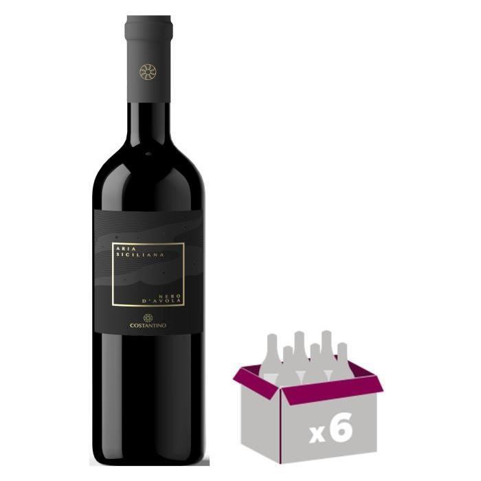 ARIA SICILIANO 2014 Nero d'avola Vin d'Italie - Blanc - 75 cl - IGT x 6