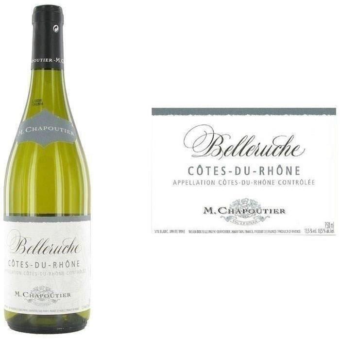 """M. Chapoutier """"Belleruche"""" Côtes du Rhône 2016 - Vin blanc"""