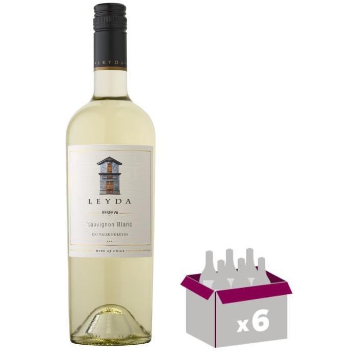 LEYDA RESERVA 2015 Sauvignon Vin du Chili - Blanc -75 cl x 6