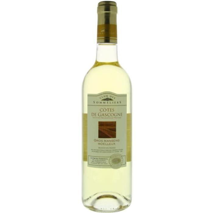 Côtes de Gascogne Gros Manseng doux 2016 Vin du Sud Ouest - Blanc - 75cl - IGP Club des sommiers