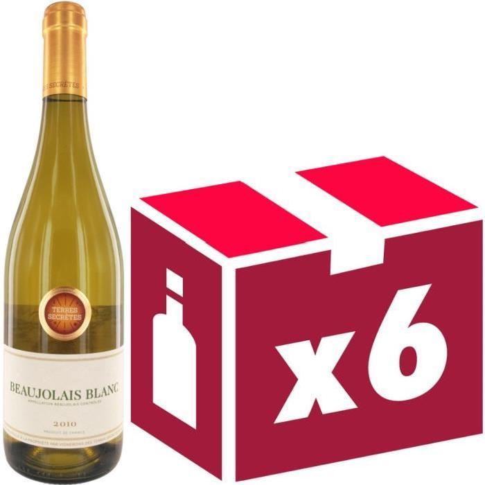 Beaujolais blanc 2010 Terres Secretes vin blanc x6