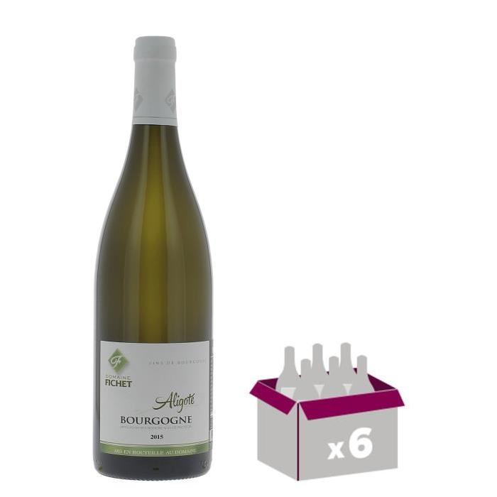 Domaine Fichet Bourgogne Aligoté - Grand Vin de Bourgogne - 2015 - Blanc  x 6