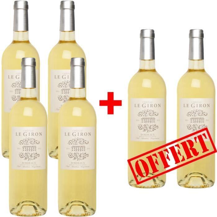 Château Le Giron Bordeaux Blanc Grand Vin de Bordeaux 2015 - Vin blanc