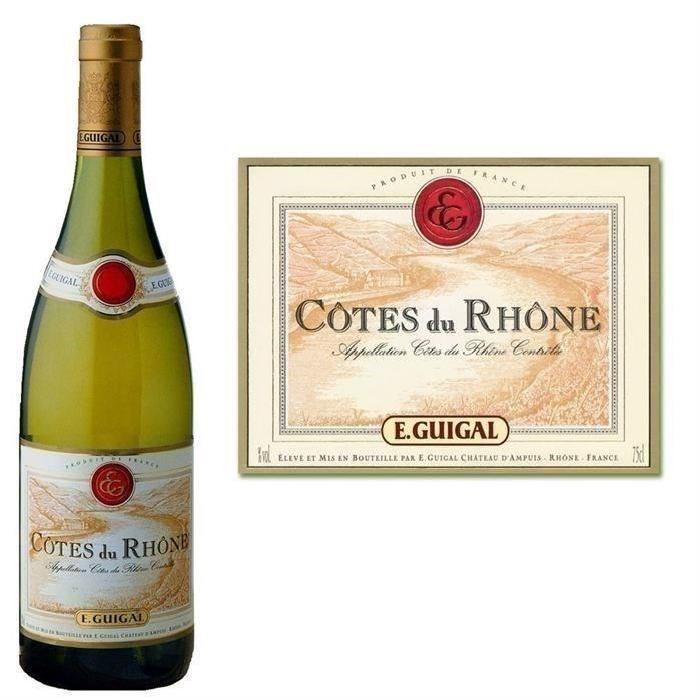 Guigal Côtes du Rhône Blanc 2015 vin blanc x1