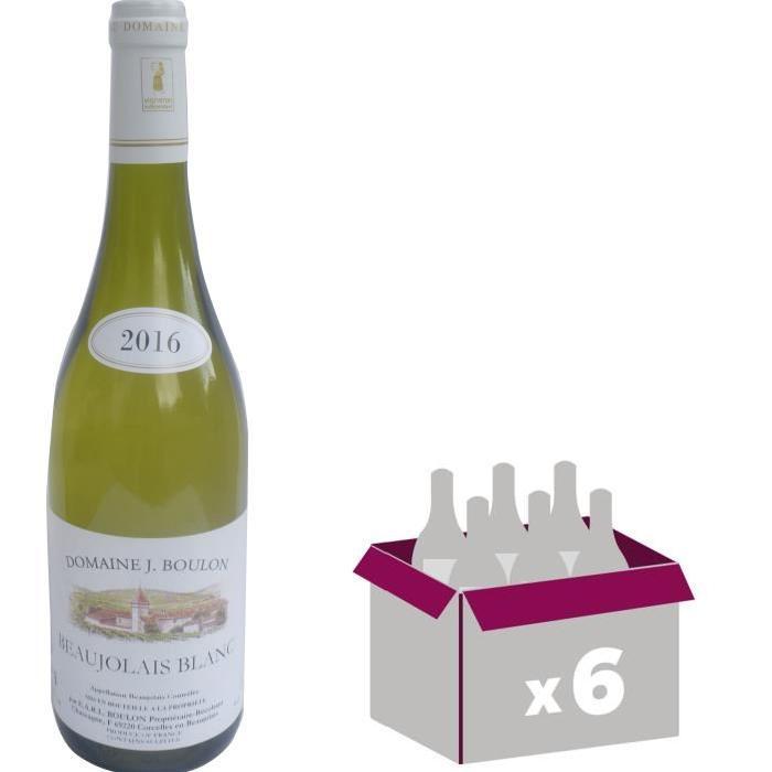Domaine J. Boulon Beaujolais 2016 - Vin blanc x6