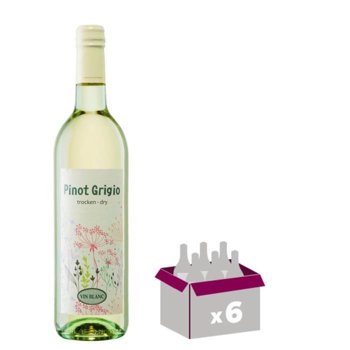 DRY Pinot Grigio Vin de Hongrie - Blanc - 75 cl x 6