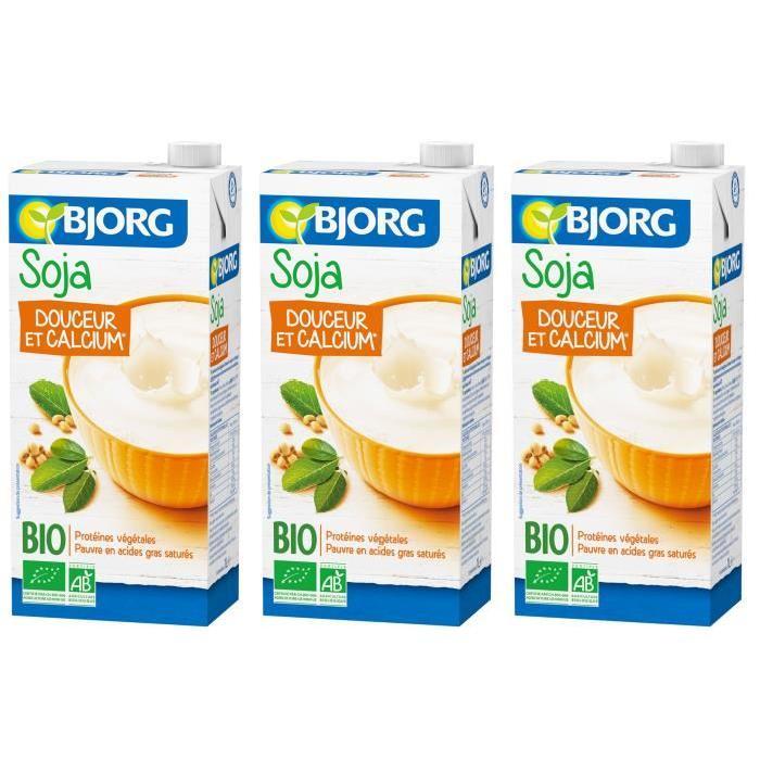 BJORG Boisson Soja Salcium Bio 1l X3