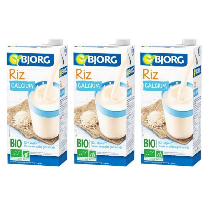 BJORG Boisson Riz Calcium Bio 1l X3