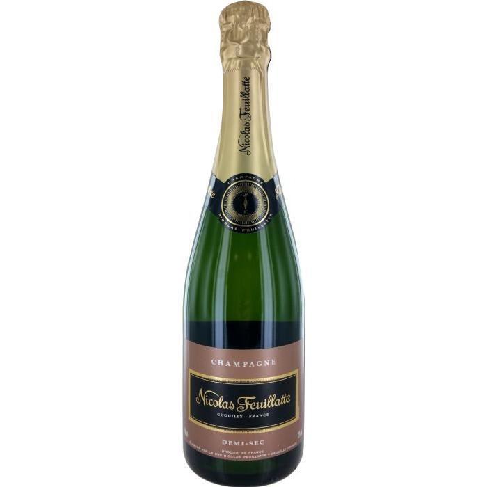 Nicolas Feuillate Champagne demi sec - Blanc - 75 cl - 12 %