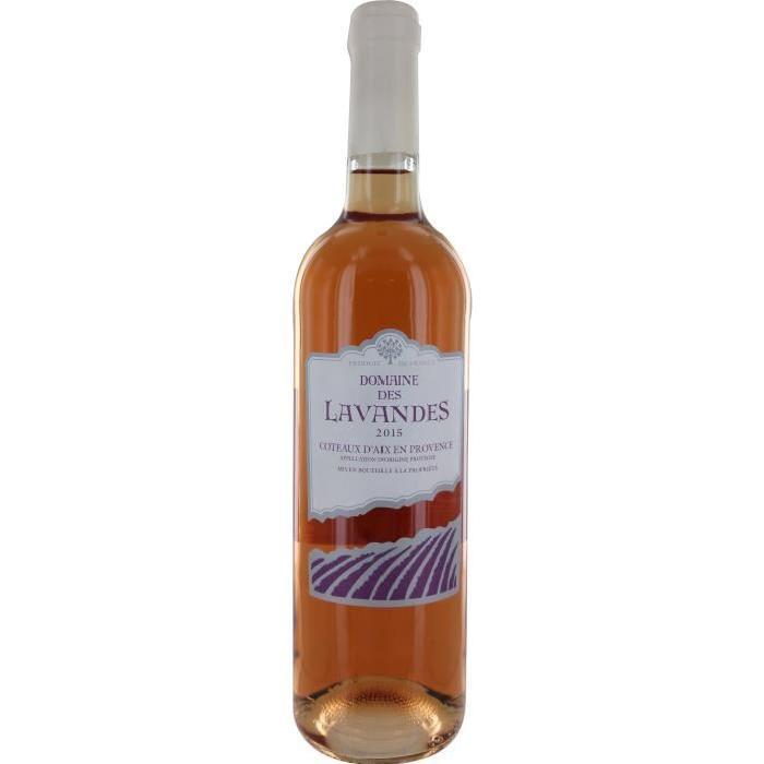 Domaine des Lavandes vin des Coteaux d'Aix en Provence - Rosé - 75 cl