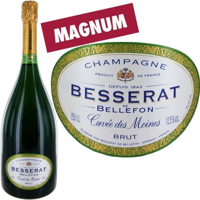 Magnum Besserat Cuvée des Moines Champagne 150cl.