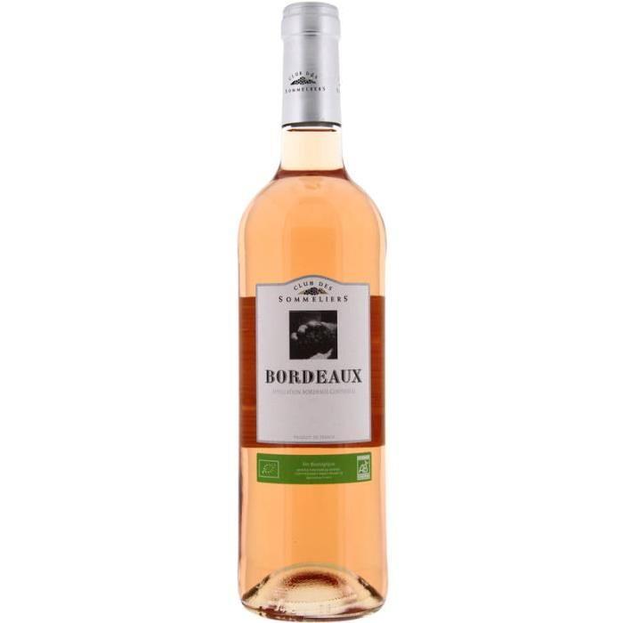 Bordeaux AOC Club des Sommeliers - Vin de Bordeaux - Bio - Rosé - Biologique 75 cl
