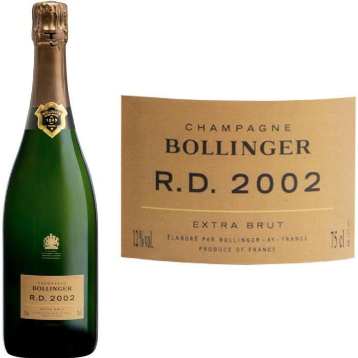 Bollinger RD 2002 Récemment Dégorgée 75cl Champagne millésimé