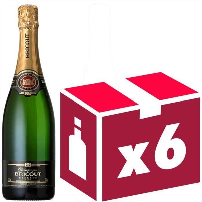 Champagne Bricout Brut Réserve x6