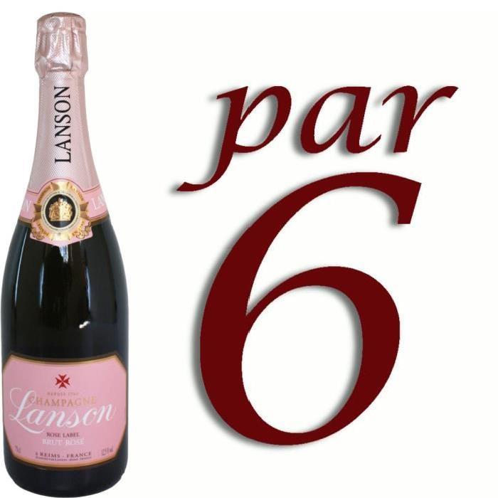 Champagne Rosé Lanson x6