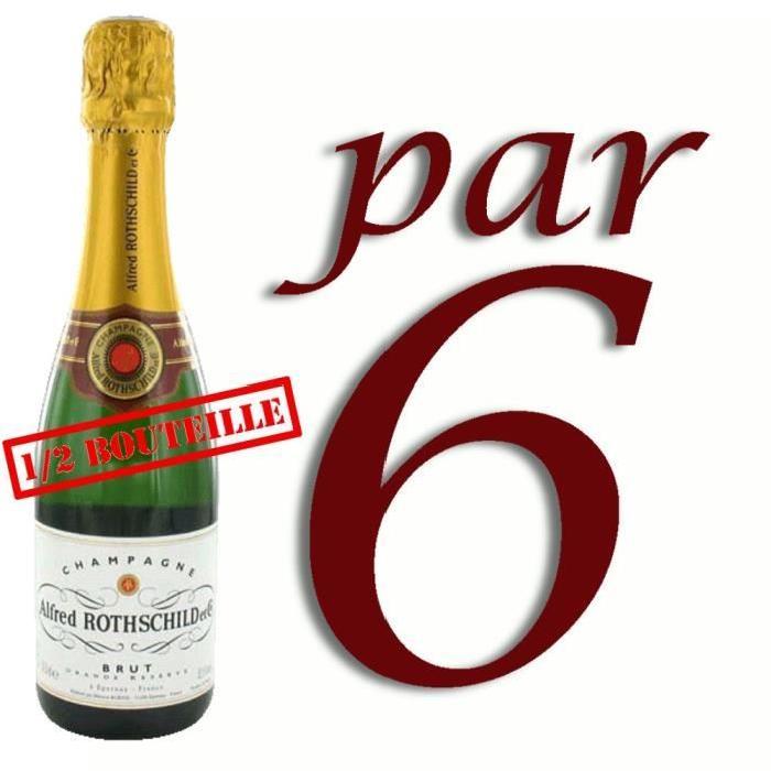 Demie Champagne Alfred Rothschild Brut x6