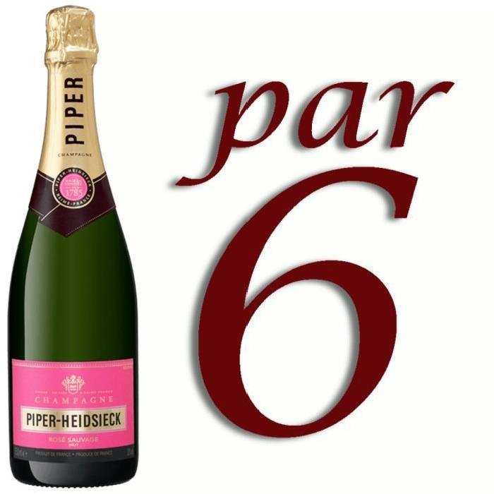Champagne Piper-Heidsieck Rosé Sauvage x6