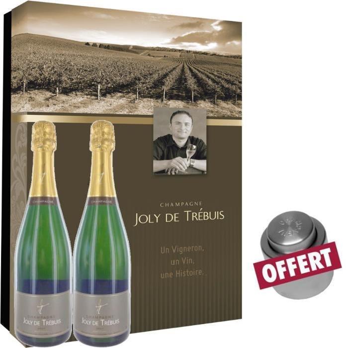 Coffret Champagne Joly de Trébuis + Bouchon Offert