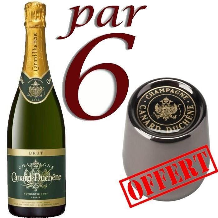 Champagne Canard Duchene Authentic Brut avec Etui et Bouchon Canard Duchene