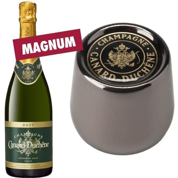 Magnum Champagne Canard Duchene Authentic Brut avec Etui et Bouchon Canard Duchene