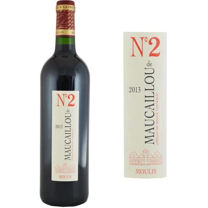 Numéro 2 de Maucaillou Second Vin 2013 - Vin Rouge