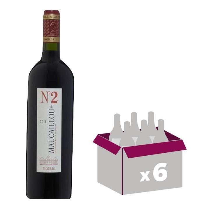 CHÂTEAU MAUCAILLOU MOULIS 2014 Numéro 2 Vin de Bordeaux - Rouge - 75 cl x6