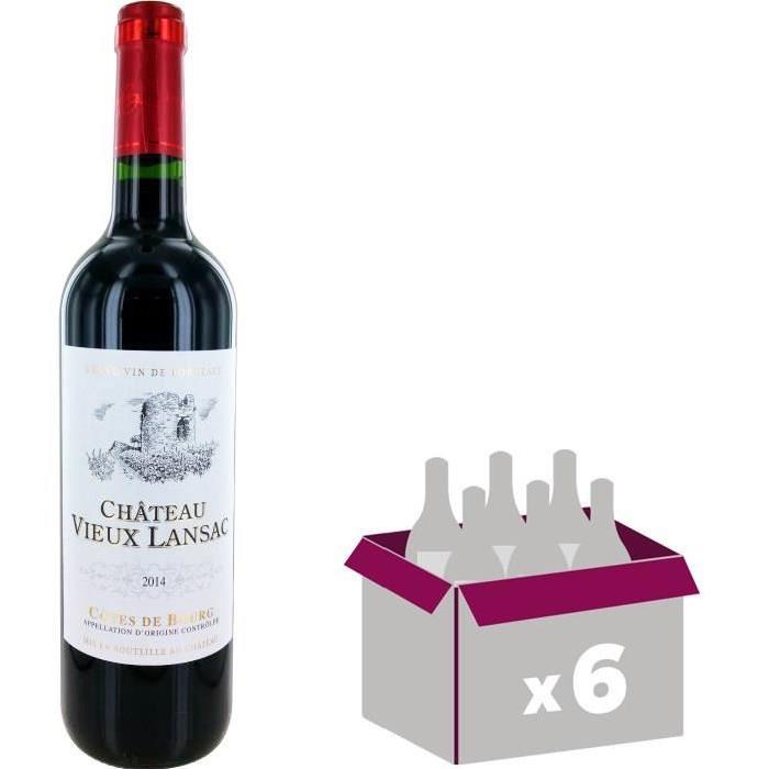 VIEUX LANSAC Vin de Bordeaux - Rouge - 75 cl x 6