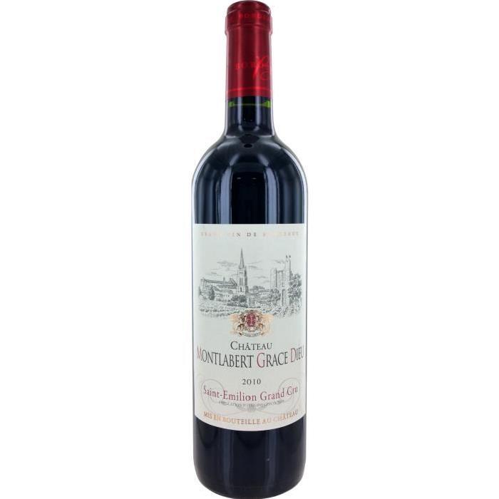 Château Montlabert Grace Dieu Grand Cru St Emilion Vin de Bordeaux- Rouge - 75 cl