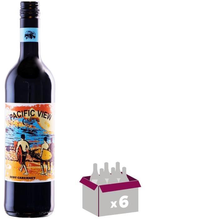 PACIFIC VIEW Ruby Cabernet Vin de Californie - Rouge - 75 cl x 6