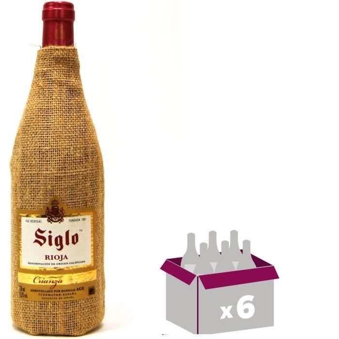 SIGLO SACO Crianza Rioja Vin d'Espagne - Rouge - 75 cl x 6