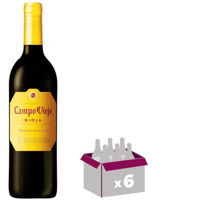 CAMPO VIEJO Crianza Rioja Vin d'Espagne - Rouge - 75 cl x 6
